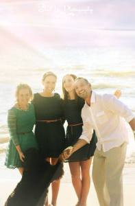 Christy, Ashley, Dad and I at Dad's wedding, September of this year