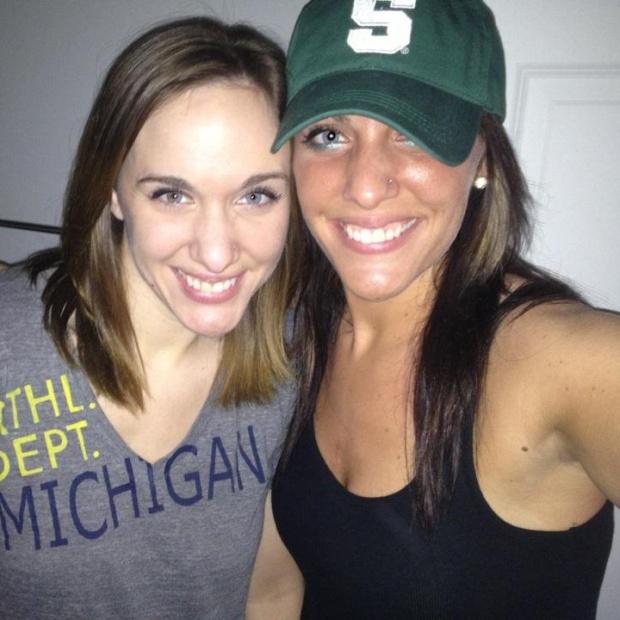 I'm a State fan, she is a Michigan fan